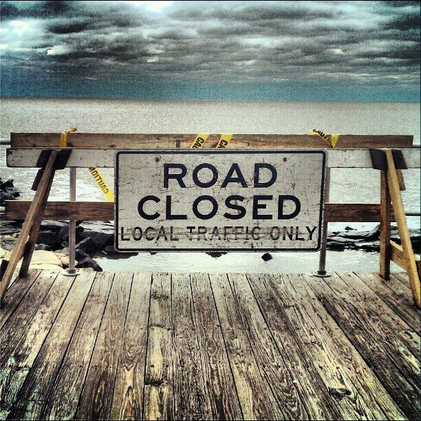 Road to the beach closed?? We don't think so! #physixsurf