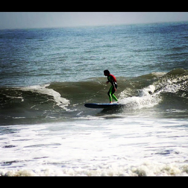 Connor Neff getting some long boarding swell