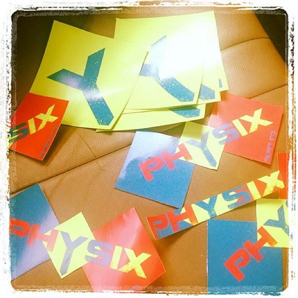 Stickers on stickers on stickers. #physixsurf