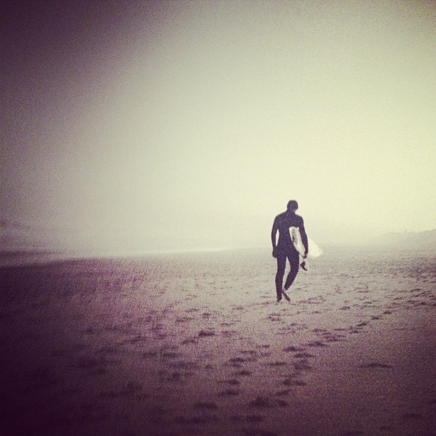 Lonely beach walks.