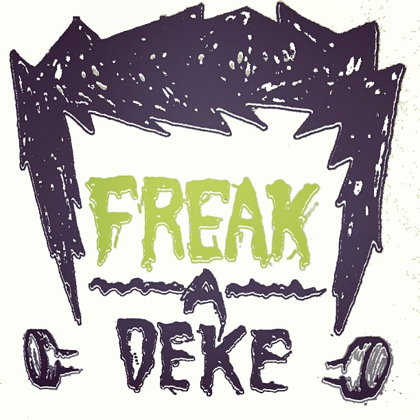 Freak-A-Deke. What do you think of the board model name / logo? #physixsurf