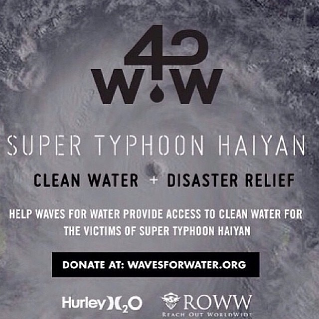 Help out the Philippines! Donate today. Over 30k water filters are getting delivered shortly #physixsurf #w4w